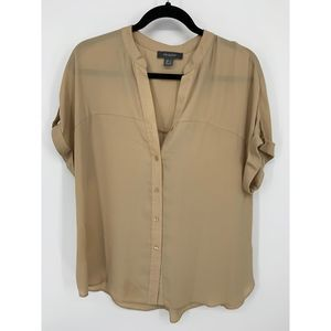 Primark brown 10 blouse sheer